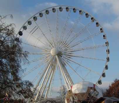Ferris wheel in the Winter Wunderland at Hyde Park