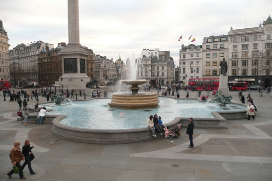 The fountain of Trafalgar Square