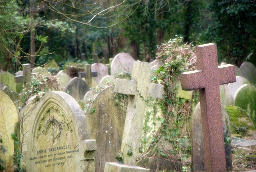 Highgate cemetery where Karl marx is buried