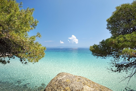Clear turquoise water