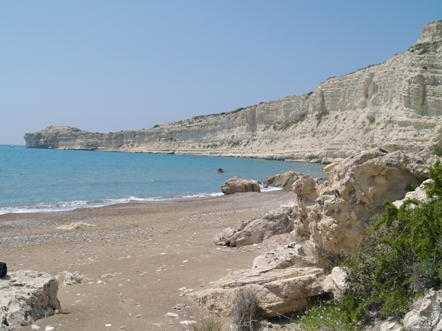 Quiet beach in Cyprus